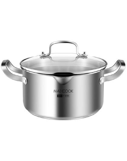 美厨 加厚复底带导流口304不锈钢22CM汤煲汤锅