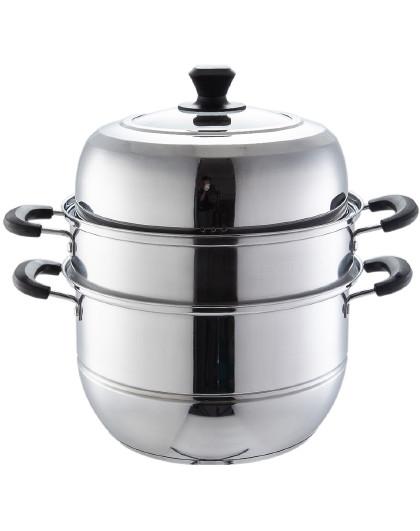 美厨 加厚不锈钢高拱盖蒸锅复合底二层/三层汤蒸锅蒸锅