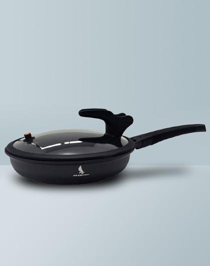 赛普瑞斯・先生 黑骑士 不粘锅不粘平底锅煎锅炒锅加厚少油烟全炉具通用