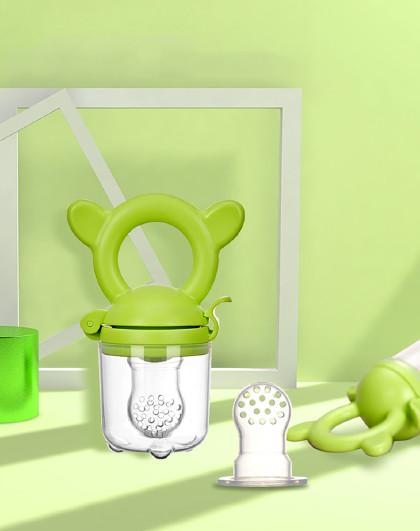 婴儿咬咬袋训练器果蔬乐磨牙棒工具宝宝吃水果辅食器牙胶
