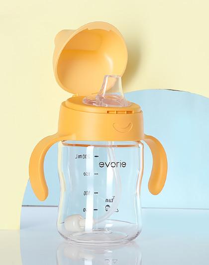 爱得利 鸭嘴杯大宝宝吸管杯婴儿水杯防摔两用学饮杯子儿童喝水奶瓶