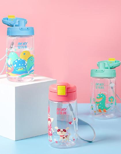 小学生幼儿园儿童大宝宝水杯直饮杯学饮杯防漏水杯400ML