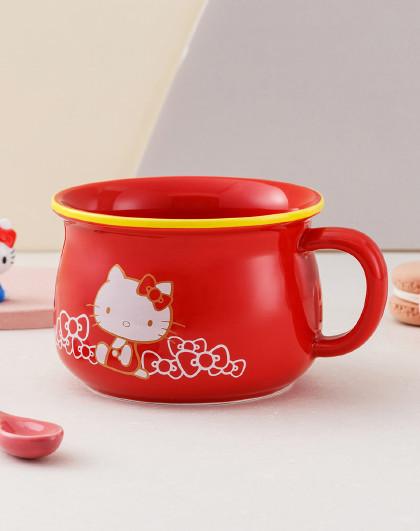 hellokitty吃麦片藕粉早餐杯陶瓷马克杯可爱卡通男女家用喝水杯子