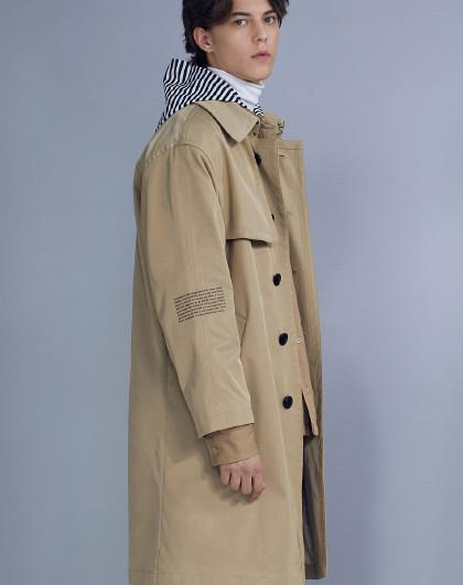 GXG 2020商场同款男款休闲大气英伦风格长款风衣