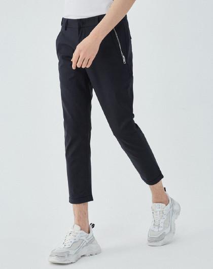 GXG 韩版潮流休闲时尚藏青色长裤