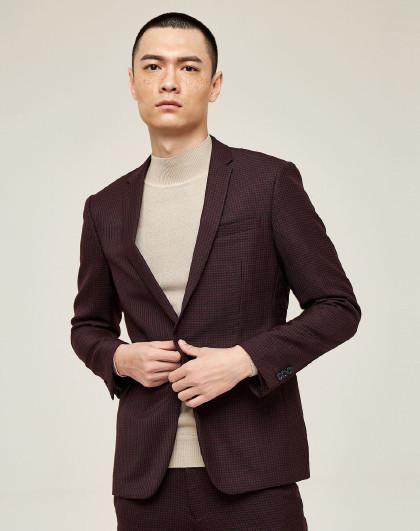 GXG 男款时尚休闲格子西服