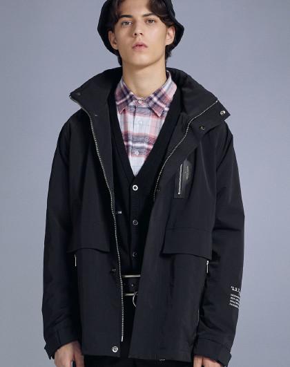 GXG 2020商场同款男款潮流休闲连帽保暖风衣