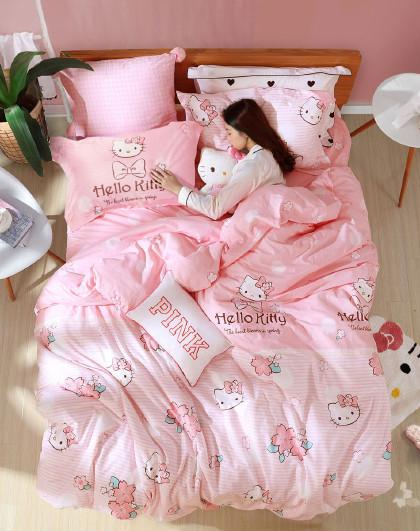全棉印花卡通四件套纯棉床单被套床上用品套件