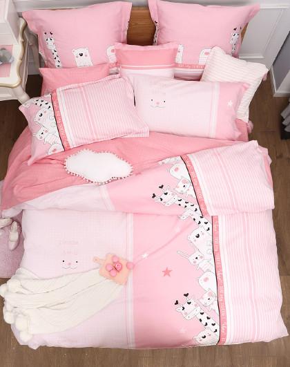全棉印花三/四件套纯棉四件套床单被套儿童床上用品套件