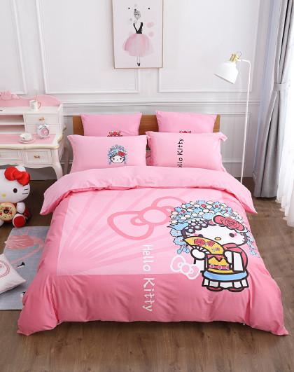 全棉印花卡通四件套国粹纯棉床单被套床上用品套件