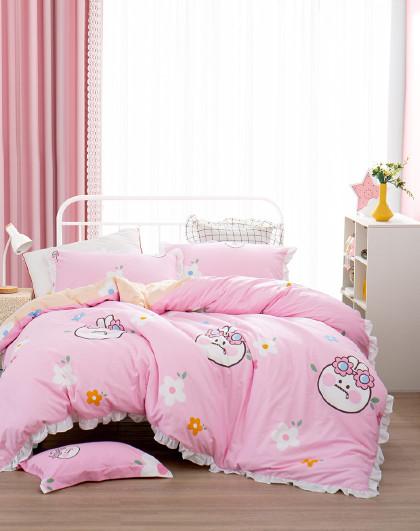 全棉儿童三/四件套床上用品纯棉印花床单被套学生宿舍套件