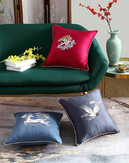 水星 简色国潮靠垫靠背枕头垫子沙发靠垫
