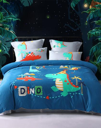 【爆款套件】纯棉印花抗菌儿童多件套床单被套床上用品套件