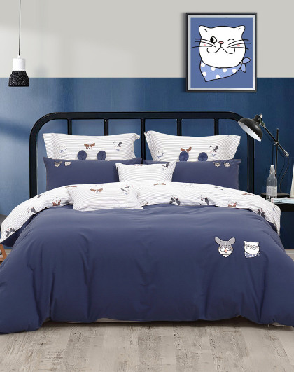 全棉水洗棉卡通三件套四件套纯棉床单被套儿童床上用品套件