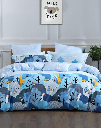 全棉印花卡通三件套四件套纯棉床单被套床上用品套件