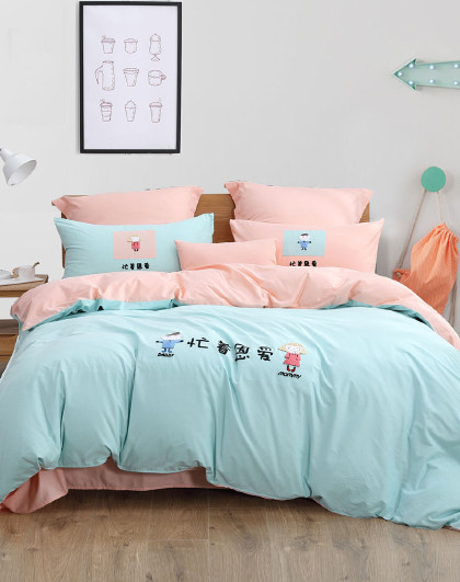 【21新品】全棉四件套纯棉床单被套儿童床上用品套件