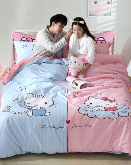 【21新品】儿童全棉卡通床单被套四件套活性印花床上套件
