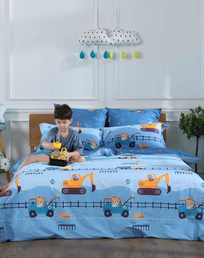 全棉印花卡通床上用品三件套四件套纯棉床单被套套件