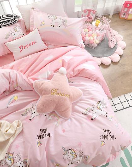 全棉印花卡通三/四件套纯棉床单被套儿童床上用品多套件