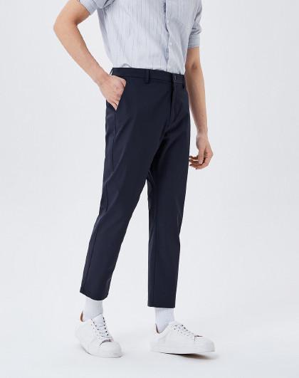 森马 2021夏季新款宽松小脚九分裤设计感休闲通勤裤子潮流休闲裤男