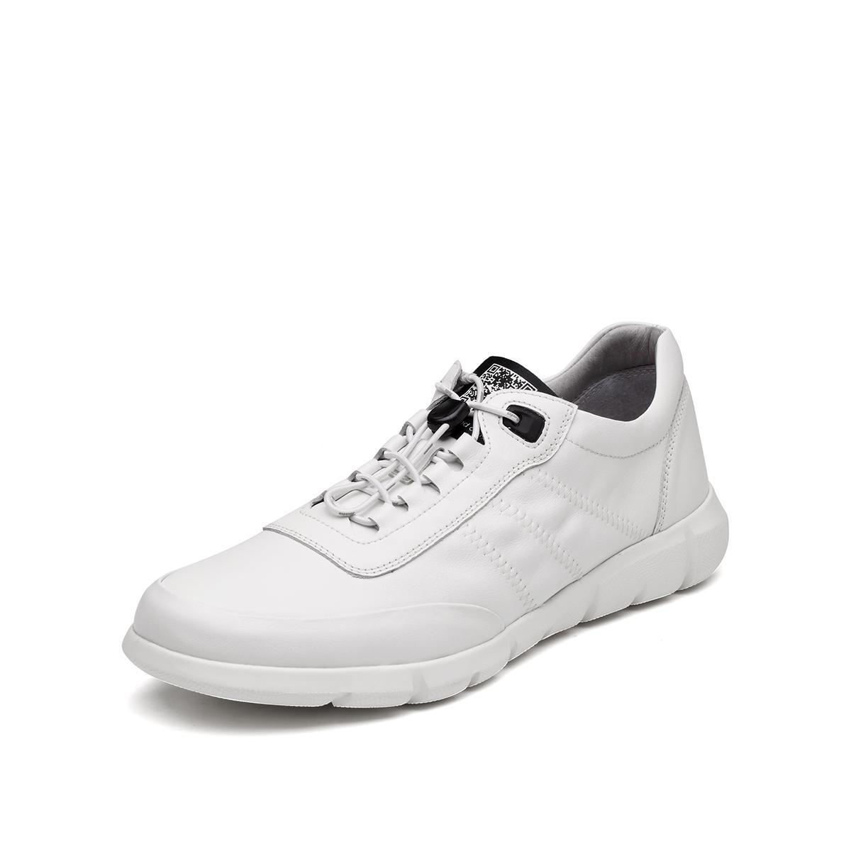 Bata 拔佳2019新款专柜同款圆头系带牛皮革男士休闲鞋