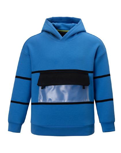 【2021新品】探路者童装儿童春季字母印花PVC兜贴男童卫衣