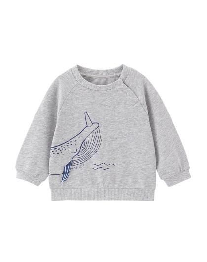 英氏 【可爱针织】儿童卫衣宝宝套衣圆领长袖上衣 2021春夏新款