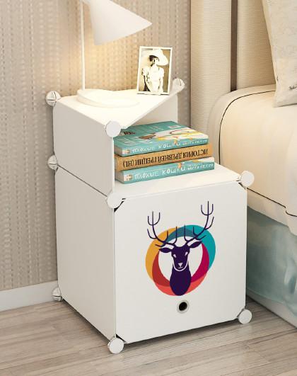 蔻丝 简易床头柜简约现代经济型多功能床边组装收纳柜储物柜小柜子