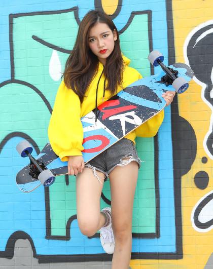 HUOBAN 滑板长板成人儿童初学者滑板车男女生刷街代步长板全能舞板