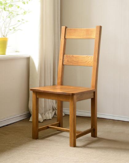 华谊 全实木办公椅书房书椅白橡木餐椅现代简约餐桌椅子餐厅家具