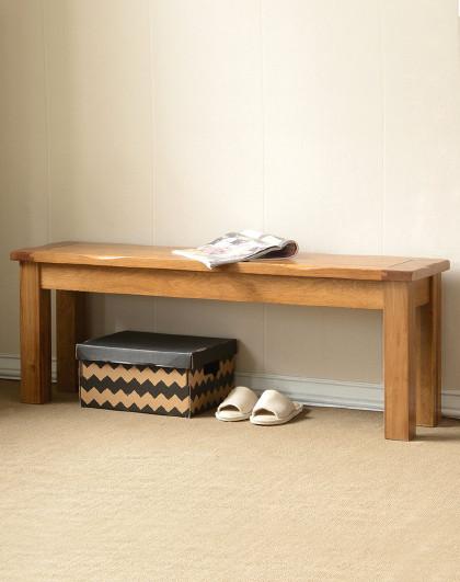 华谊 实木凳子白橡木1.2米长板凳1.6米长餐椅美式餐厅家具长条凳